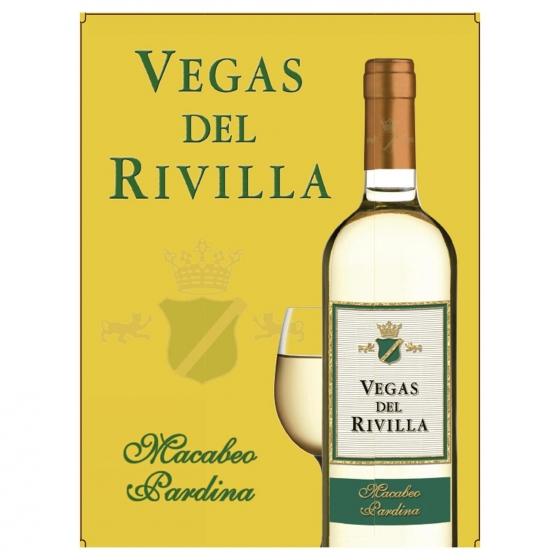 Vino de mesa blanco Vegas del Rivilla grifo 5 l. - 3
