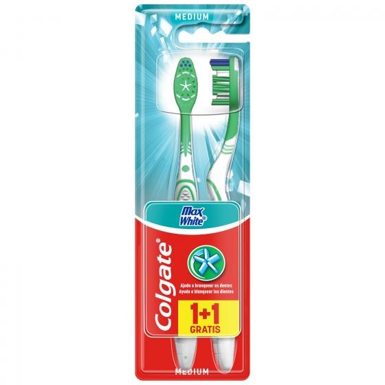 Cepillo dental Max White Medio Colgate 2 ud.