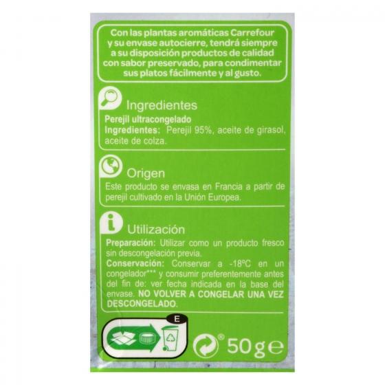 Perejil ultracongelado Carrefour 50 g. - 3