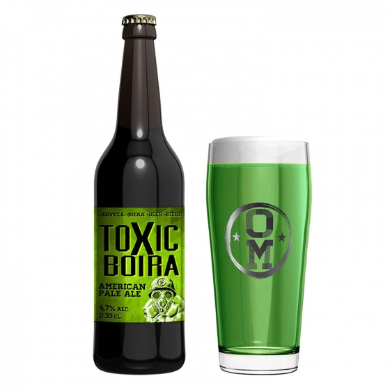 Cerveza artesana Ordio Minero Toxic Boira APA botella 33 cl.