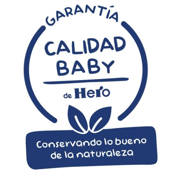 Tarrito de manzana, melocotón y plátano desde 4 meses ecológico Hero Baby Solo 190 g. - 3