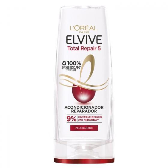 Acondicionador Total Repair 5 para cabellos dañados L'Oréal-Elvive 300 ml.