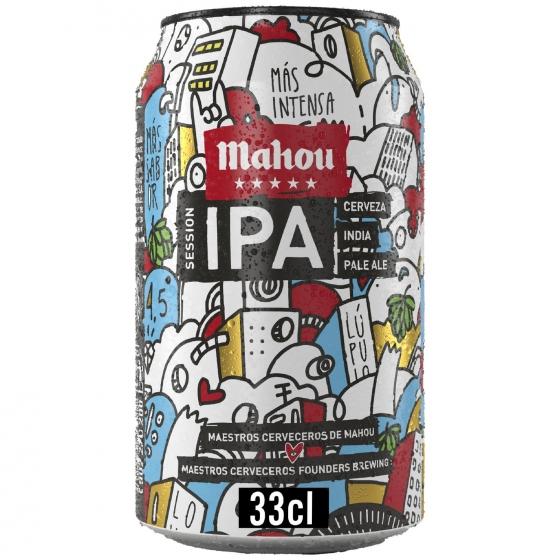 Cerveza Mahou Ipa lata 33 cl.