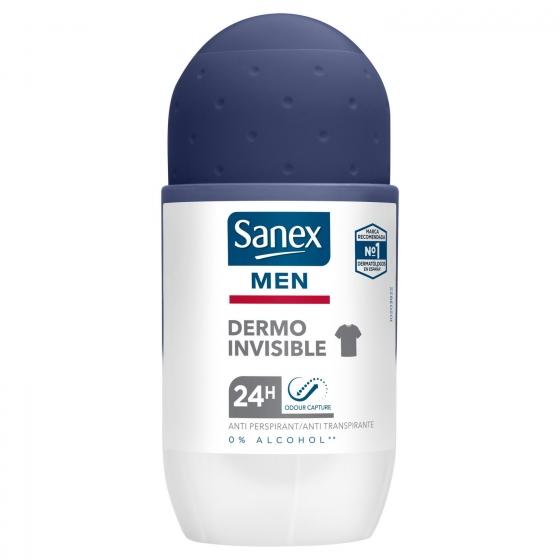 Desodorante roll-on Men Dermo Invisible Sanex 45 ml. - 1