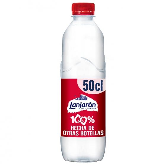 Agua mineral Lanjarón natural 50 cl.