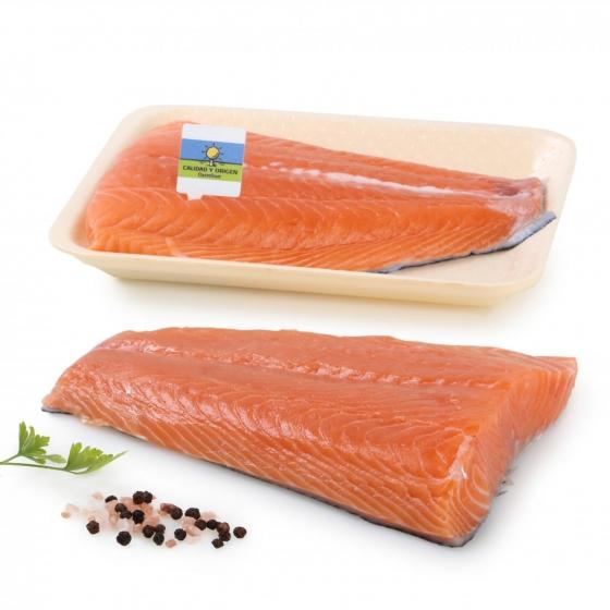 Salmón en filete Calidad y Origen Carrefour 500 g aprox