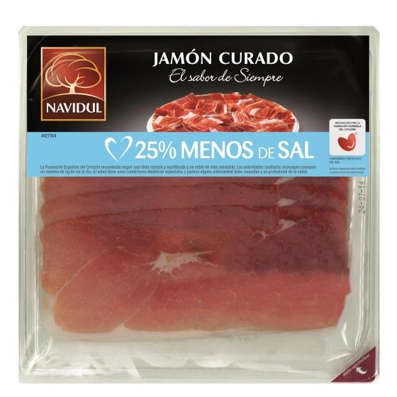 Jamón curado en lonchas Navidul sin gluten y sin lactosa 150 g.