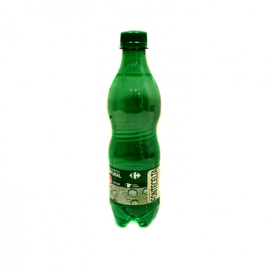 Agua mineral con gas Carrefour natural 50 cl.
