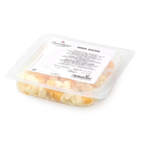 Dados de queso edam, gouda y cheddar Juan Luna 80 g