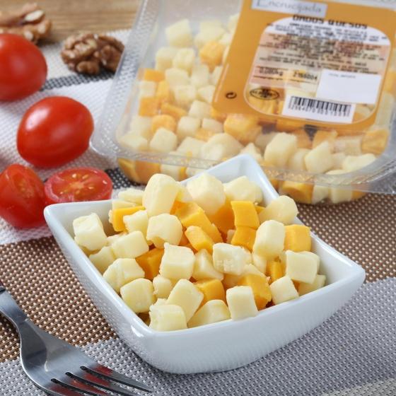 Dados de queso edam, gouda y cheddar Juan Luna 80 g - 1