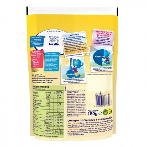 Galletas infantiles desde 12 meses Nestlé 180 g. - 1