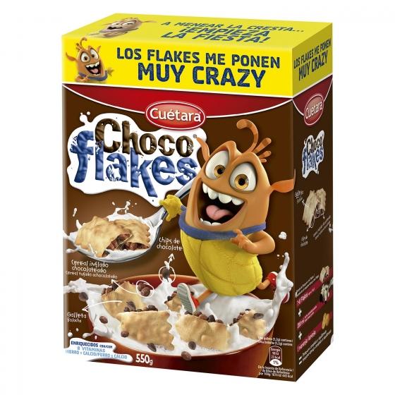 Galletas Choco Flakes Cuétara 550 g.