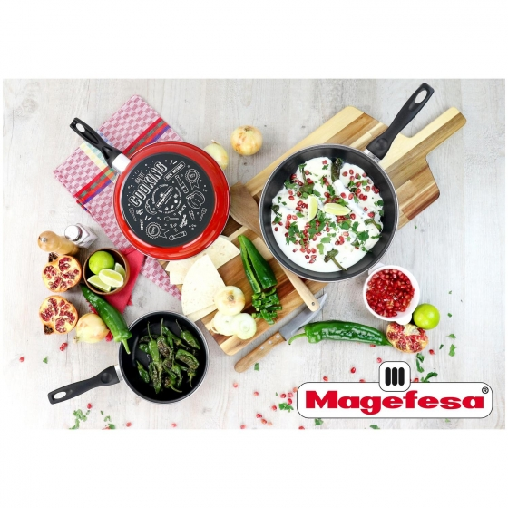 Sartén MAGEFESA Cooking 24 cm - Granate - 1