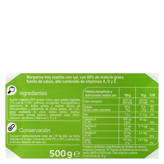 Margarina con sal Carrefour 500 g. - 3