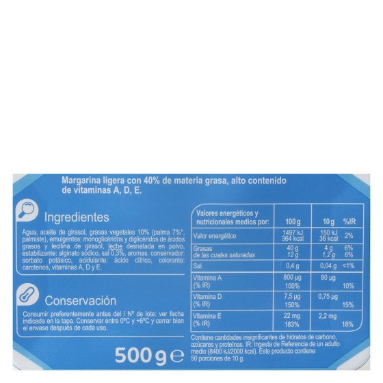 Margarina ligera Carrefour 500 g. - 3