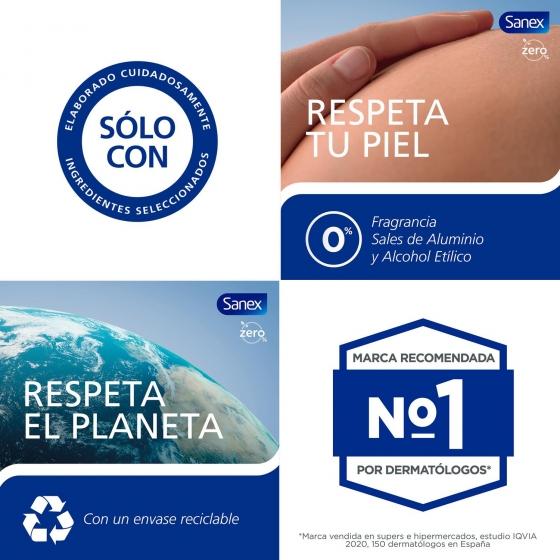 Desodorante roll-on Zero 0% sensitive Sanex 50 ml. - 1