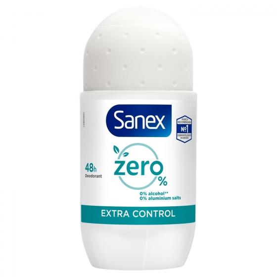 Desodorante roll-on Zero 0% extra control Sanex 50 ml. - 1