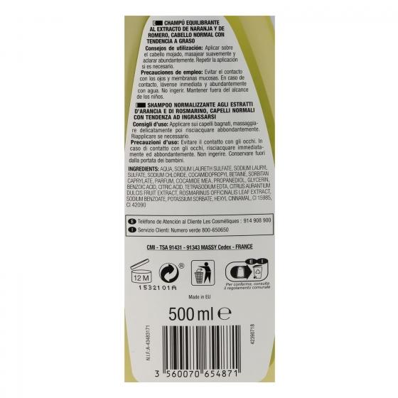 Champú Romero para cabello graso Les Cosmétiques -Nectar of Beauty 500 ml. - 1