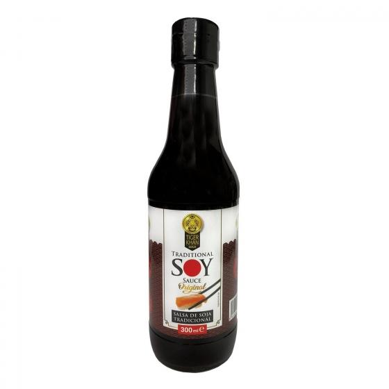 Salsa de soja Tiger Khan botella 300 ml.