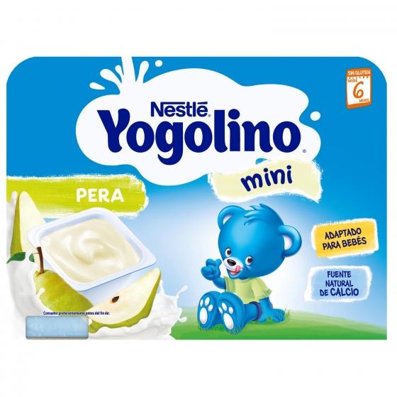 Postre lácteo de pera desde 6 meses Nestlé Yogolino sin gluten pack de 6 unidades de 60 g. - 1