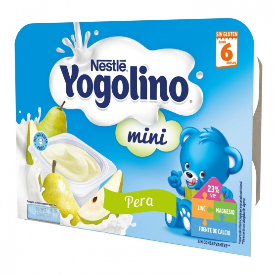 Postre lácteo de pera desde 6 meses Nestlé Yogolino sin gluten pack de 6 unidades de 60 g. - 6