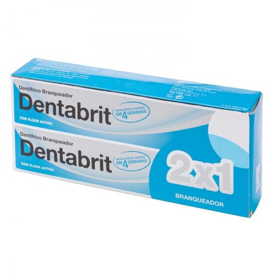 Dentífrico blanqueador Dentabrit pack de 2 unidades de 125 ml.