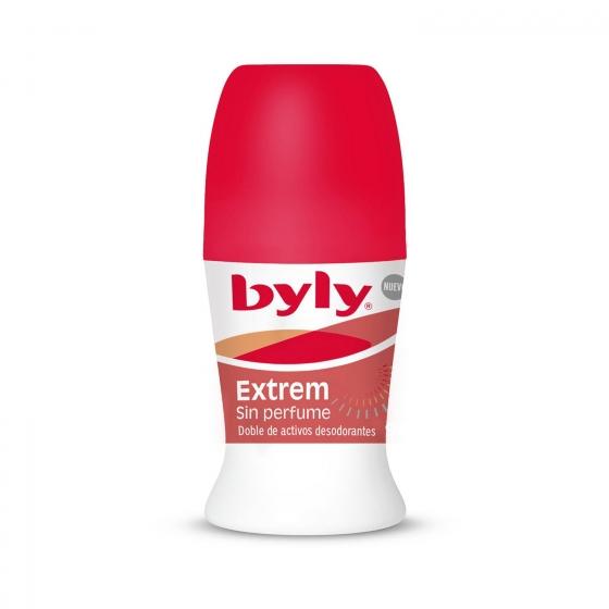 Desodorante roll-on Extreme 48H Sin perfume Byly 50 ml.