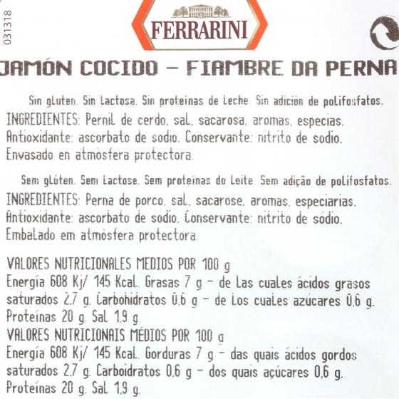 Jamón cocido extra loncheado Ferrarini 100 g - 3