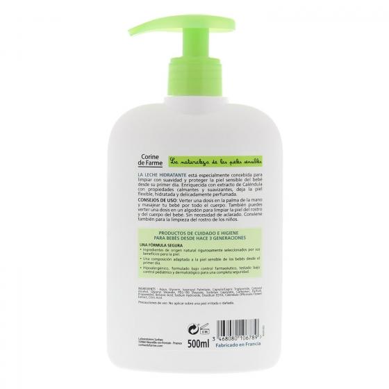 Leche hidratante con caléndula ecológica Corine de Farme 500 ml. - 1