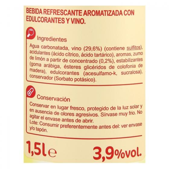 Tinto de verano con limón Carrefour botella 1,5 l. - 1