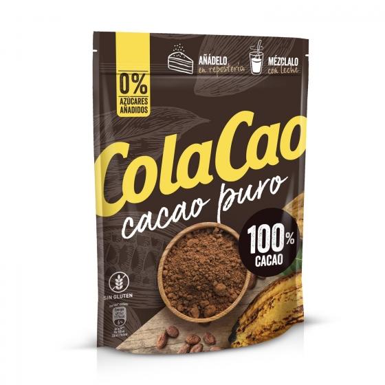 Cacao soluble puro sin azúcares añadidos Cola Cao sin gluten doy pack 250 g. - 1