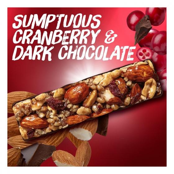 Barritas de almendras, cacahuetes con chocolate negro y arándanos YES! pack de 3 unidades de 35 g. - 5