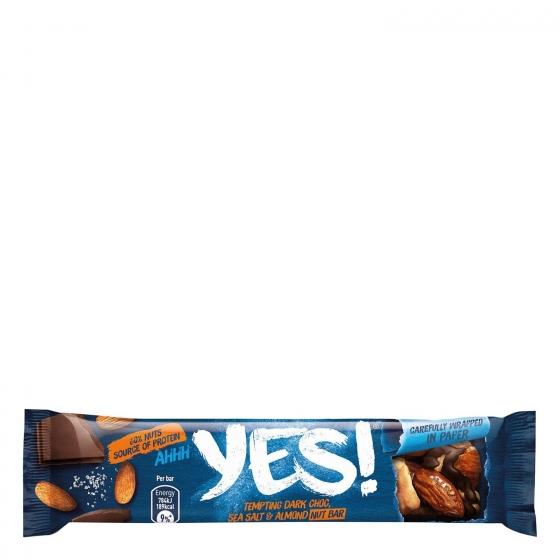 Barritas de almendras y cacahuetes con chocolate negro y sal marina YES! pack de 3 unidades de 35 g. - 3