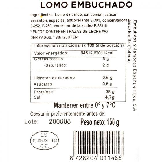 Lomo embuchado loncheado Emb. España 150 g - 1