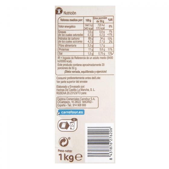 Harina para pan rústico Carrefour 1 kg. - 1