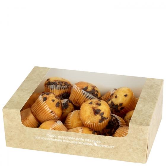 Magdalenas mini rellenas de pepitas de chocolate 350 g - 1