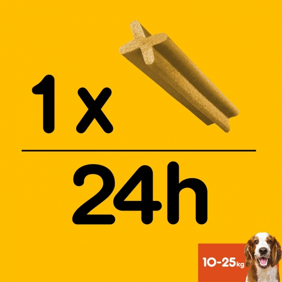 Snacks dental para perros medianos Pedigree daily Oral Care Dentastix pack de 56 unidades - 5