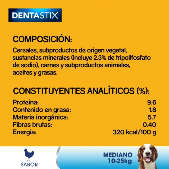 Snacks dental para perros medianos Pedigree daily Oral Care Dentastix pack de 56 unidades - 6