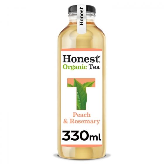 Refresco de té blanco ecológico Honest sabor melocotón botella 33 cl.