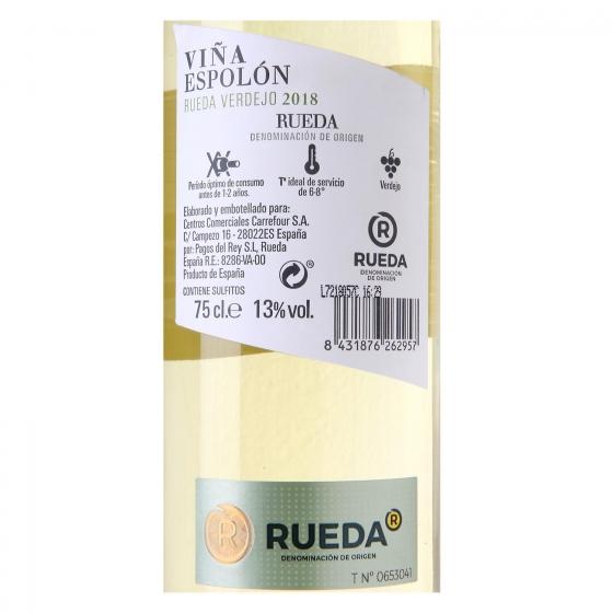 Vino D.O. Rueda blanco verdejo Viña Espolón 75 cl. - 1