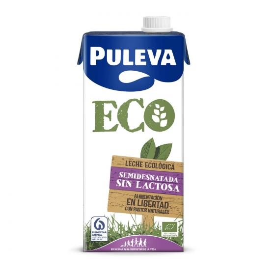Leche semidesnatada ecológica Puleva sin lactosa brik 1 l.