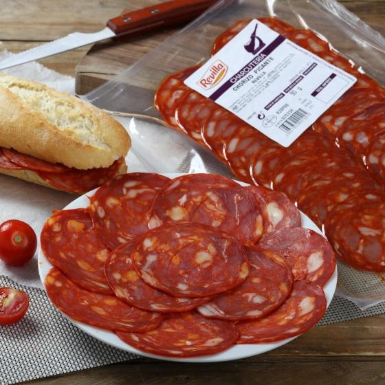 Chorizo extra picante loncheado Revilla envase 100 g - 1