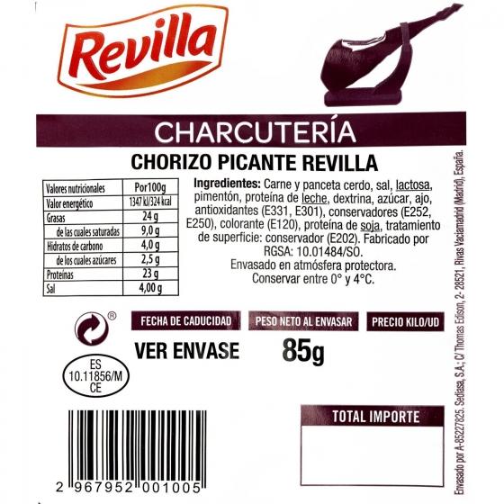 Chorizo extra picante loncheado Revilla envase 100 g - 3