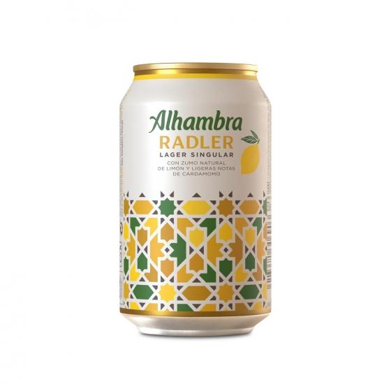Cerveza Alhambra Radler lata 33 cl.