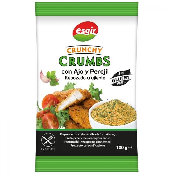 Preparado para rebozar con ajo y perejil Crunchy Crumbs Esgir sin gluten 100 g.