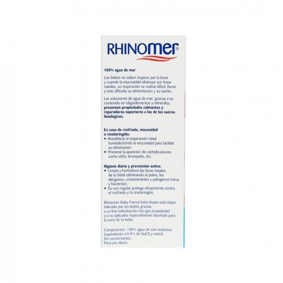Spray para el cuidado de las fosas nasales 0 Fuerza Extra Suave Rhinomer 115 ml - 1