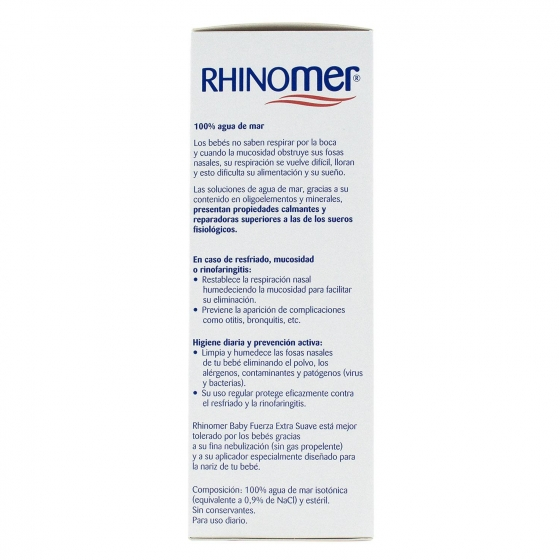 Cuidado de las fosas nasales 0 Fuerza Extra Suave para bebés Rhinomer 115 ml. - 3