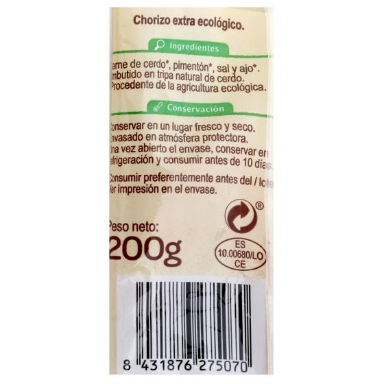 Chorizo sarta extra ecológico Carrefour sin gluten 200 g. - 1