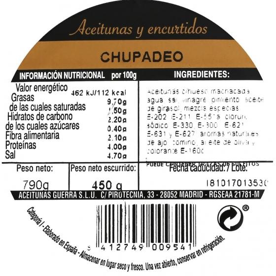 Aceitunas chupadeo Aperitivo 450 g - 3