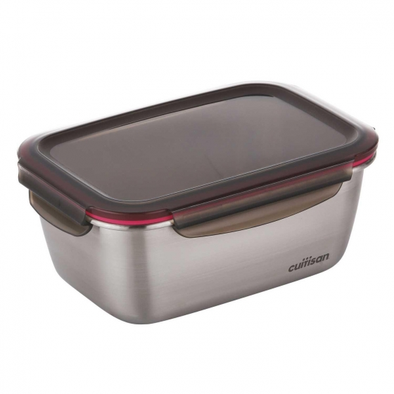 Hermético Rectangular Metal CUITISAN CANDL 1800 ml - Metalizado - 1